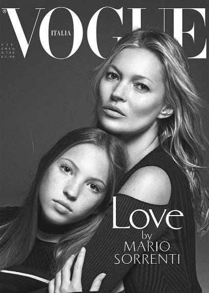 Lila Grace sulla copertina di Vogue Italia con mamma Kate Moss