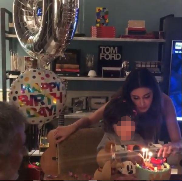 Buon compleanno Santiago! Belen festeggia il figlio