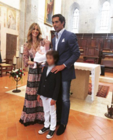Elena Santarelli e Bernardo Corradi, battesimo per Greta
