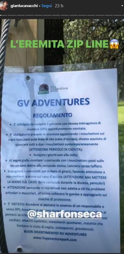 Gianluca Vacchi costruisce un parco avventure nel giardino di casa