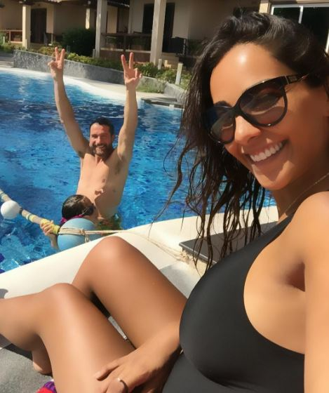 Juliana Moreira, vacanze con il pancione