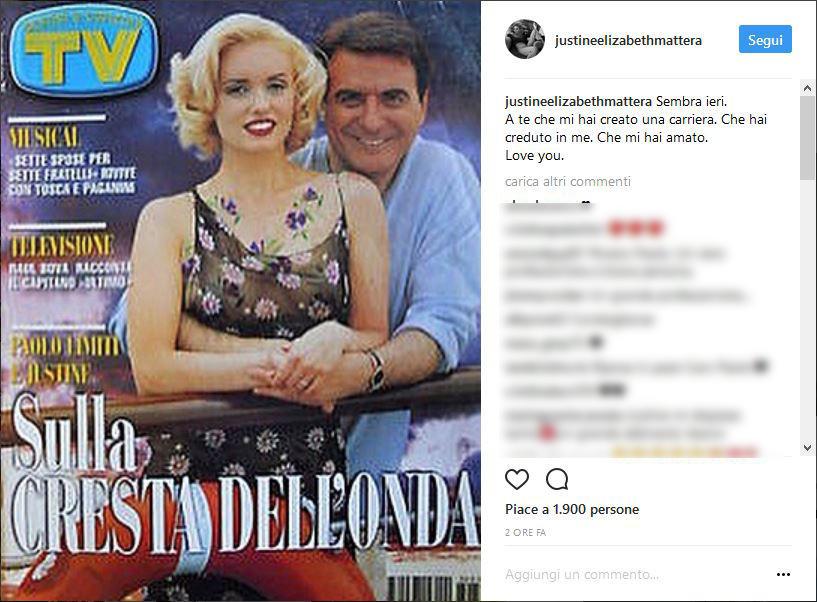 Paolo Limiti, il ricordo di Justine Mattera