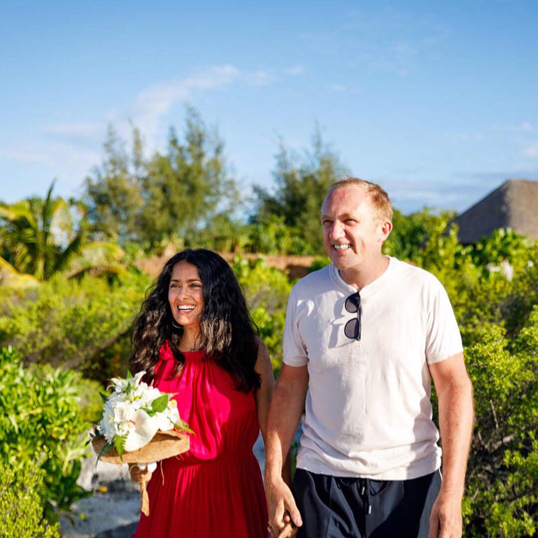 Salma Hayek, romantico rinnovo dei voti con il marito Francois-Henri Pinault