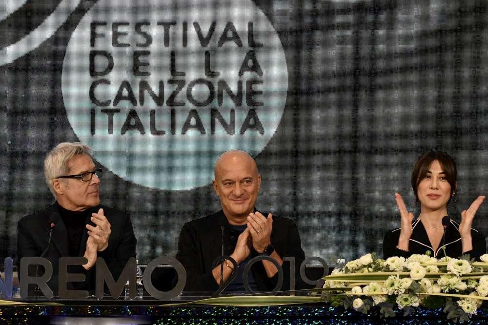 Sanremo 2019, le immagini della conferenza stampa
