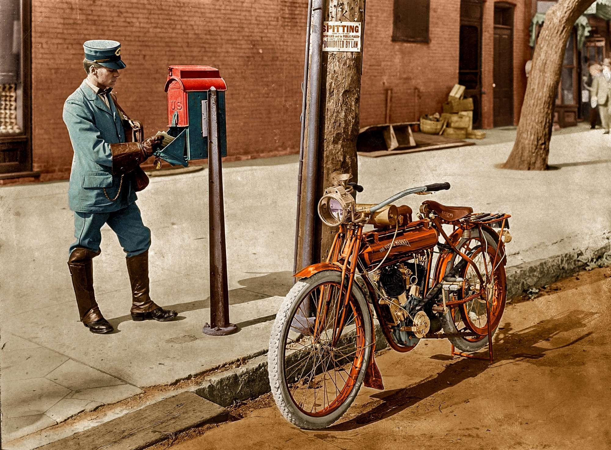Le foto a colori dei mezzi di trasporto di inizio Novecento