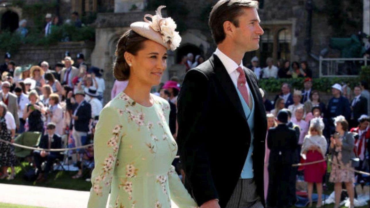 Royal Wedding, Pippa Middleton incinta sfoggia il verde acqua