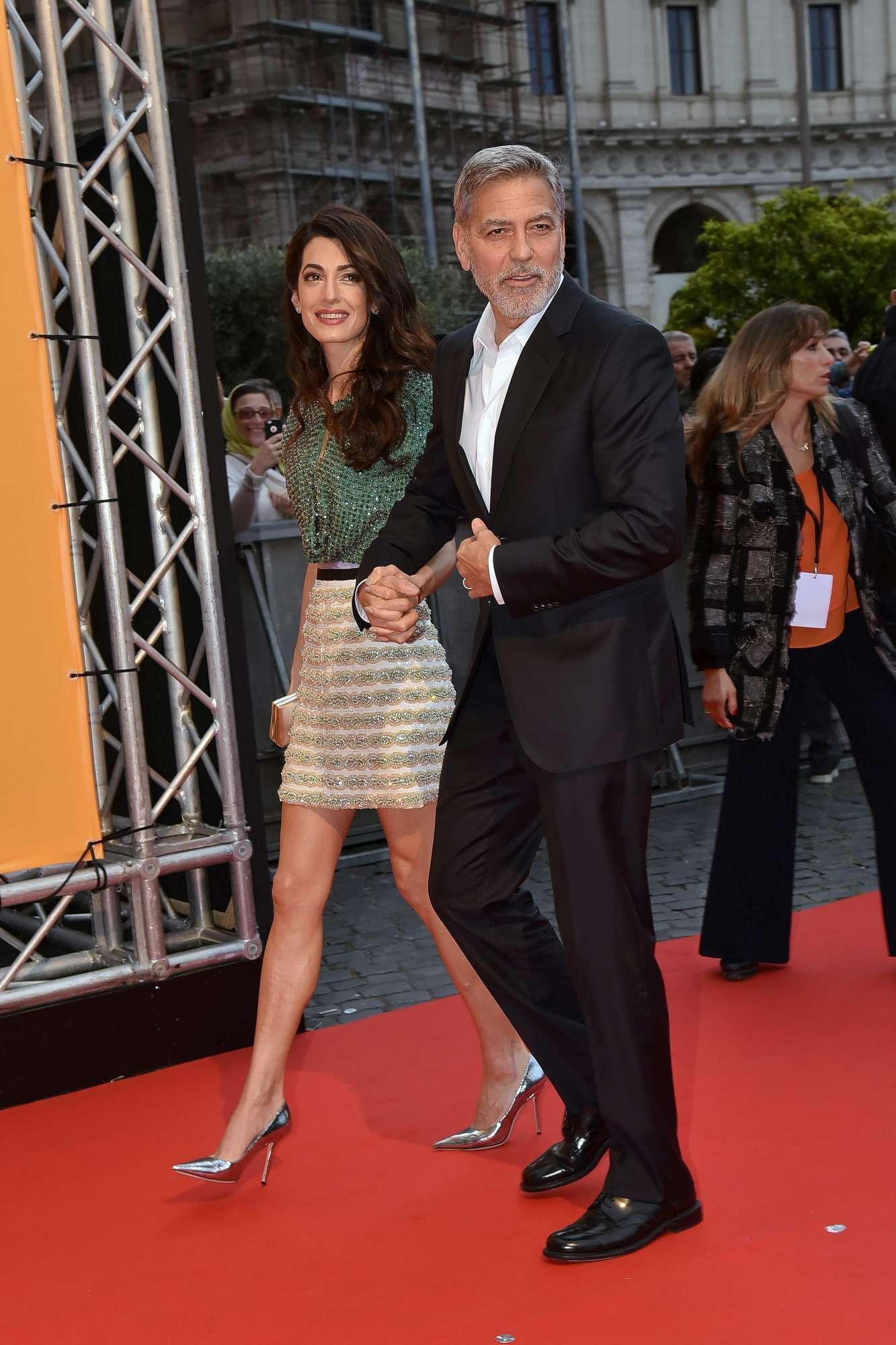 George Clooney e Amal, cenetta romantica a Roma