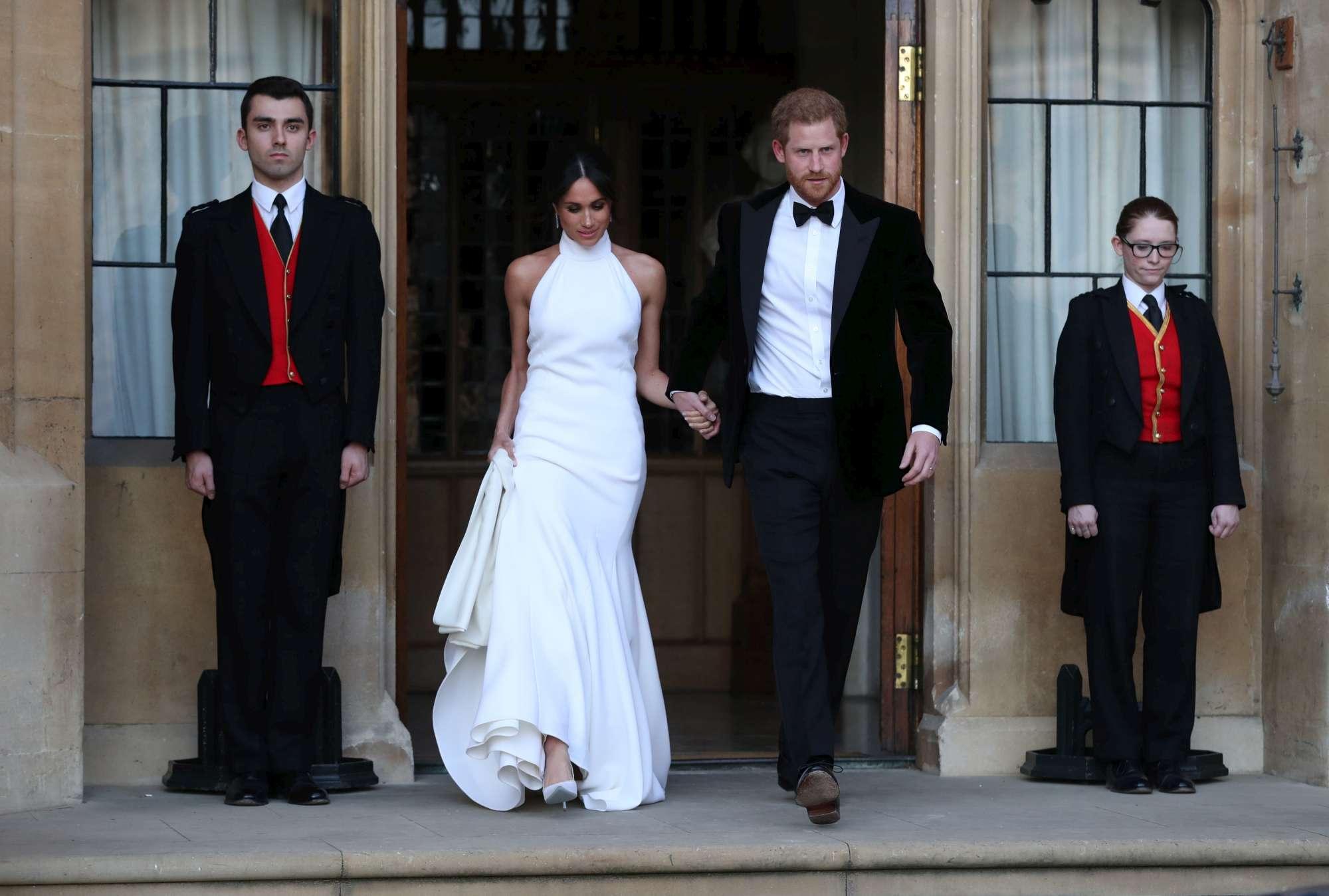 Royal wedding, gli sposi si recano al ricevimento reale