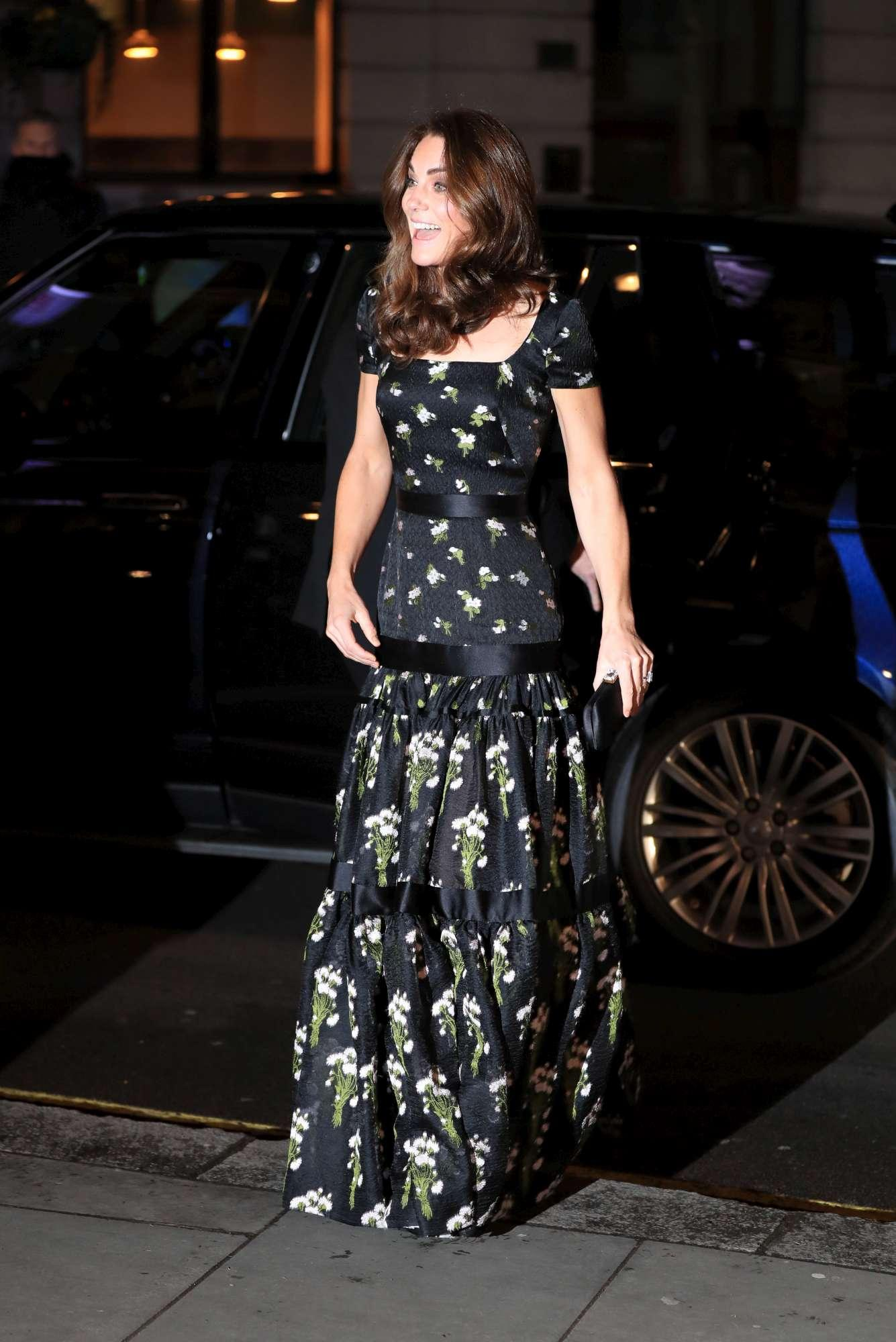 Kate Middleton alla serata di gala con i Beckham e la Moss