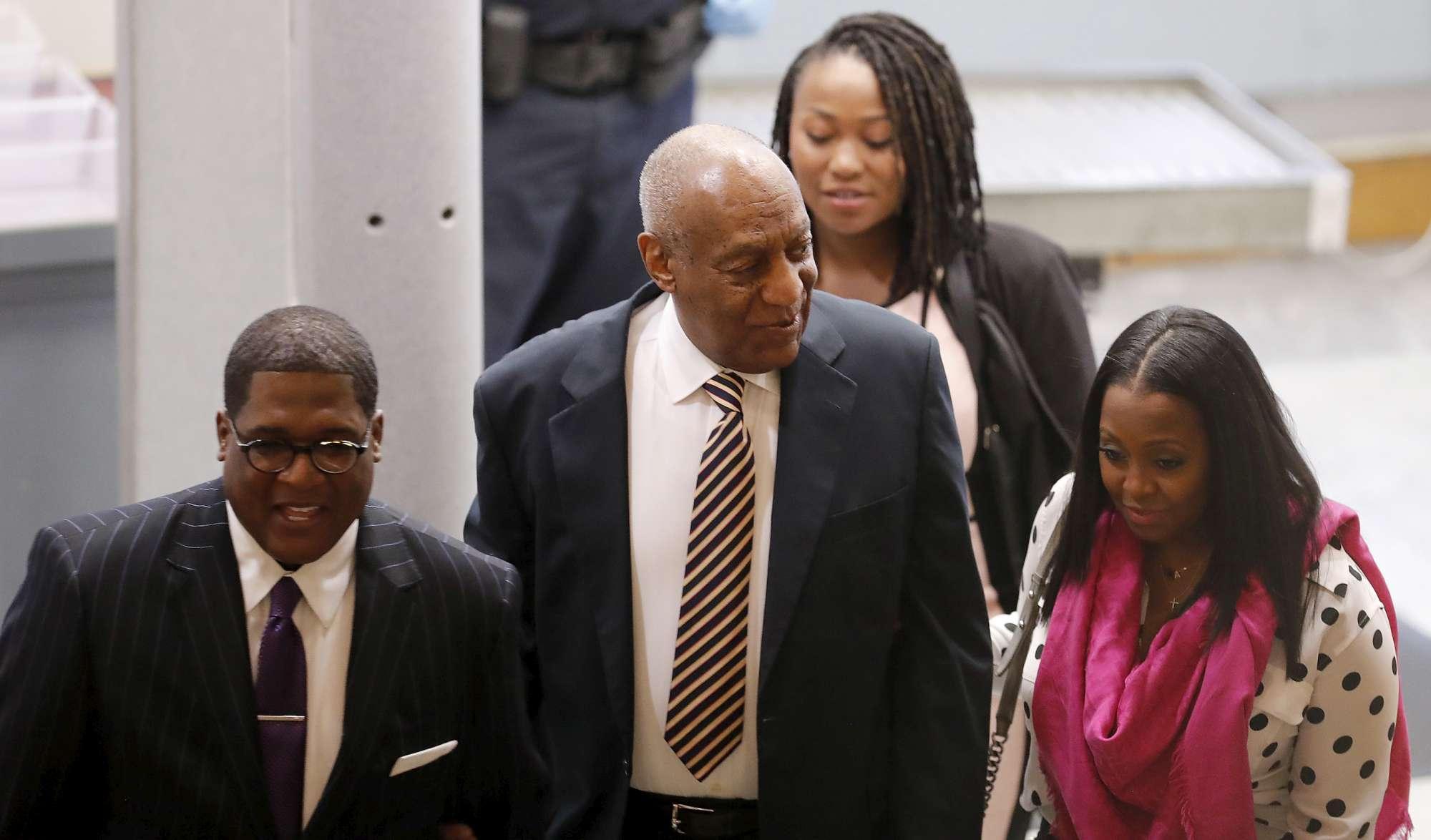 Bill Cosby al primo giorno di udienza