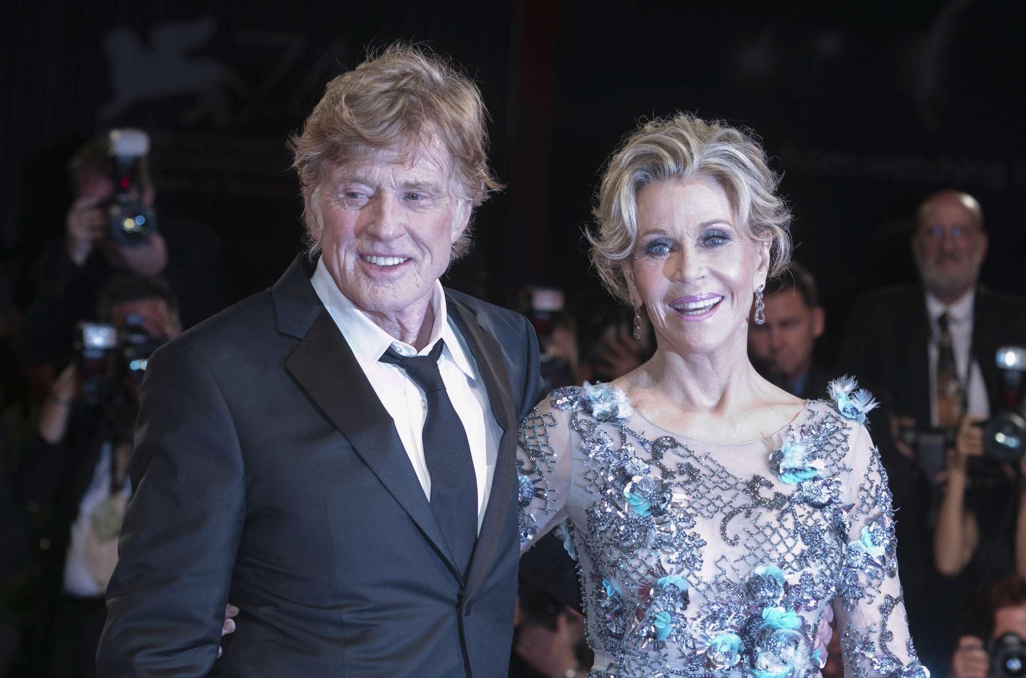 Venezia 74, Jane Fonda e Robert Redford insieme in passerella