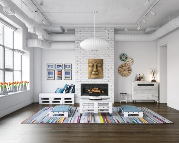 Tappeti colorati per il soggiorno