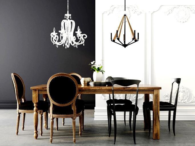 Arredo: bianco e nero, dettagli di design