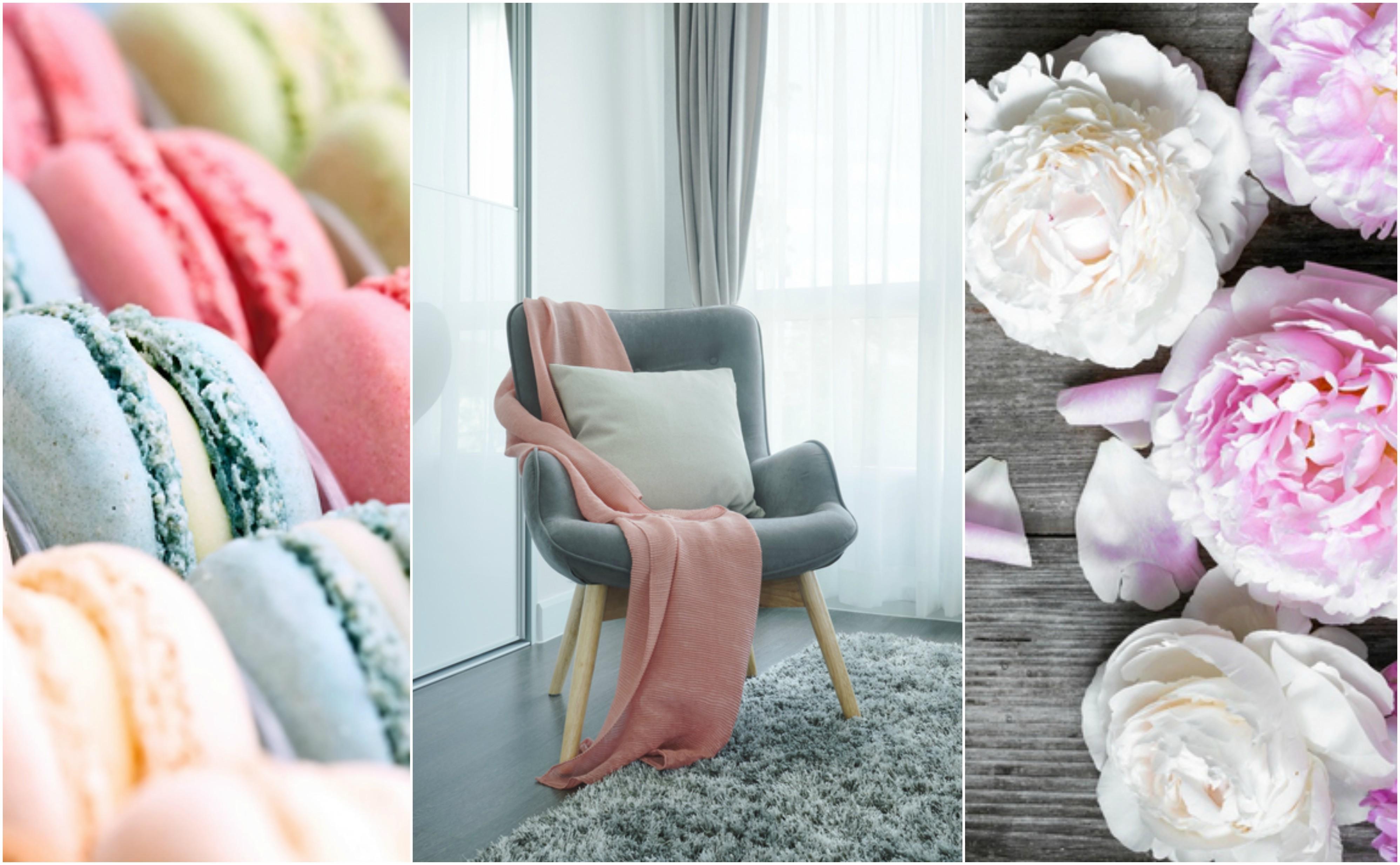 Colori pastello per la camera da letto romantica e moderna