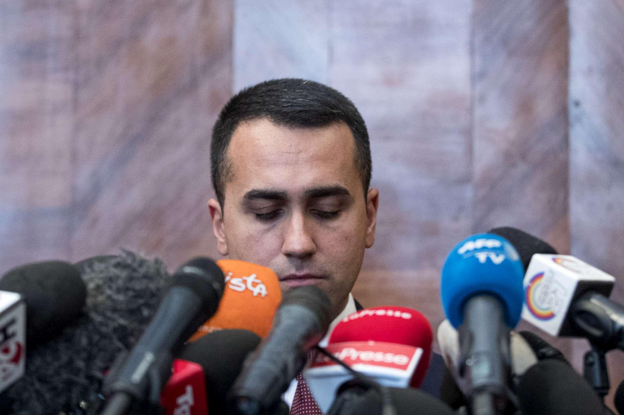 Europee, Luigi Di Maio in conferenza stampa dopo i risultati del voto