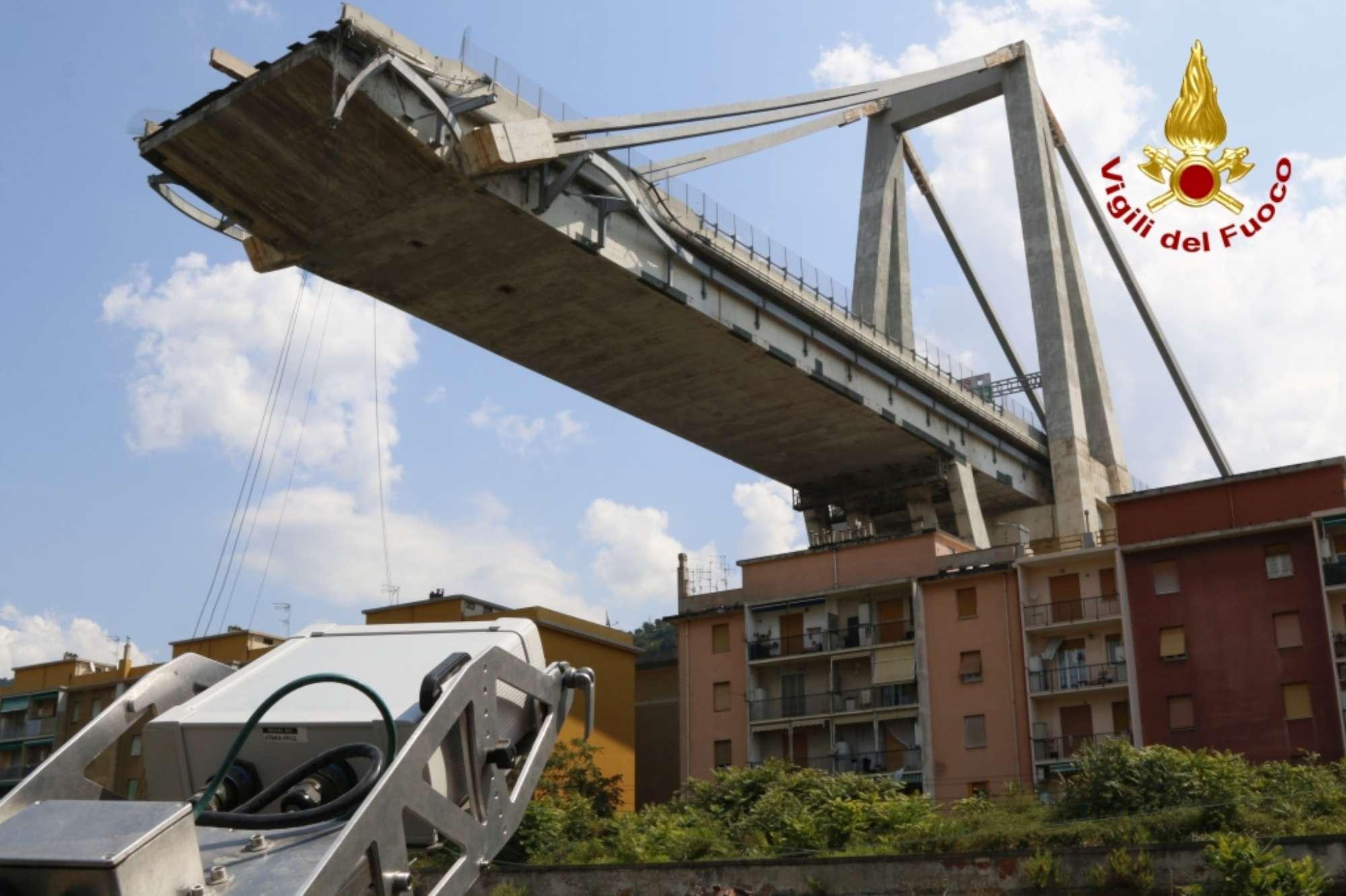 Genova, posizionato il georadar per monitorare il ponte