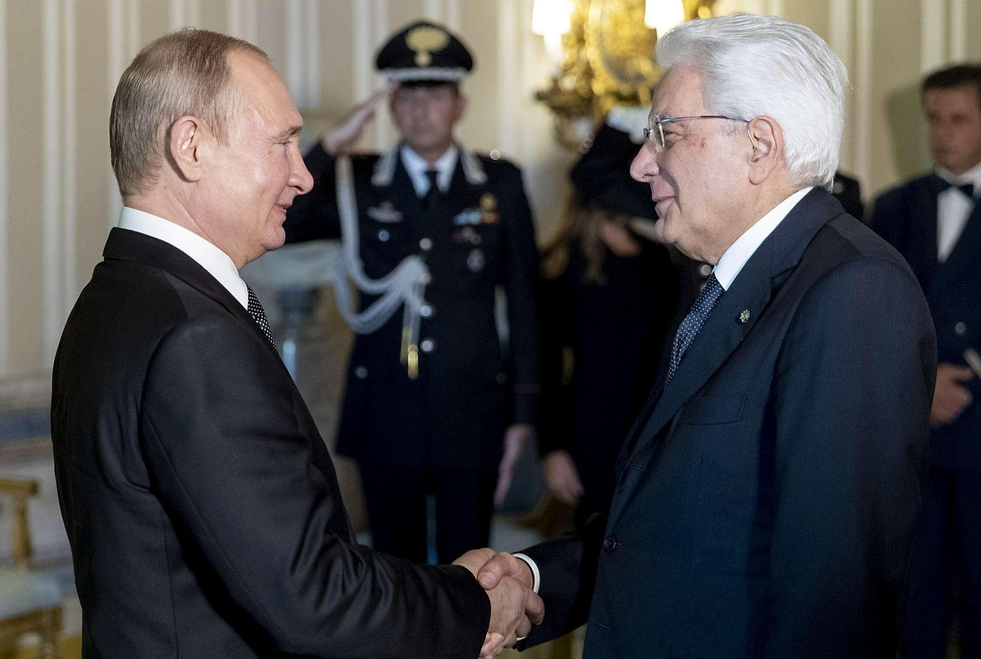 Putin al Quirinale incontra Mattarella