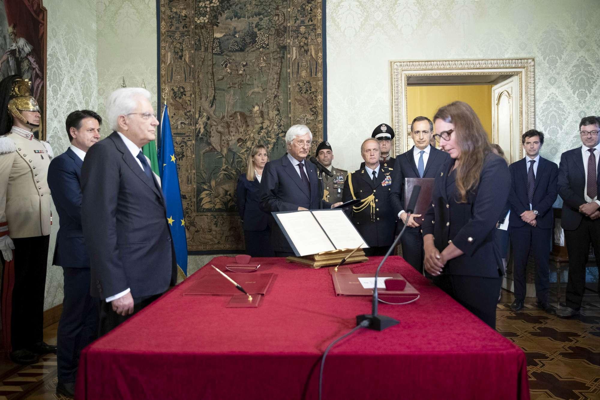 Il giuramento al Quirinale di Alessandra Locatelli
