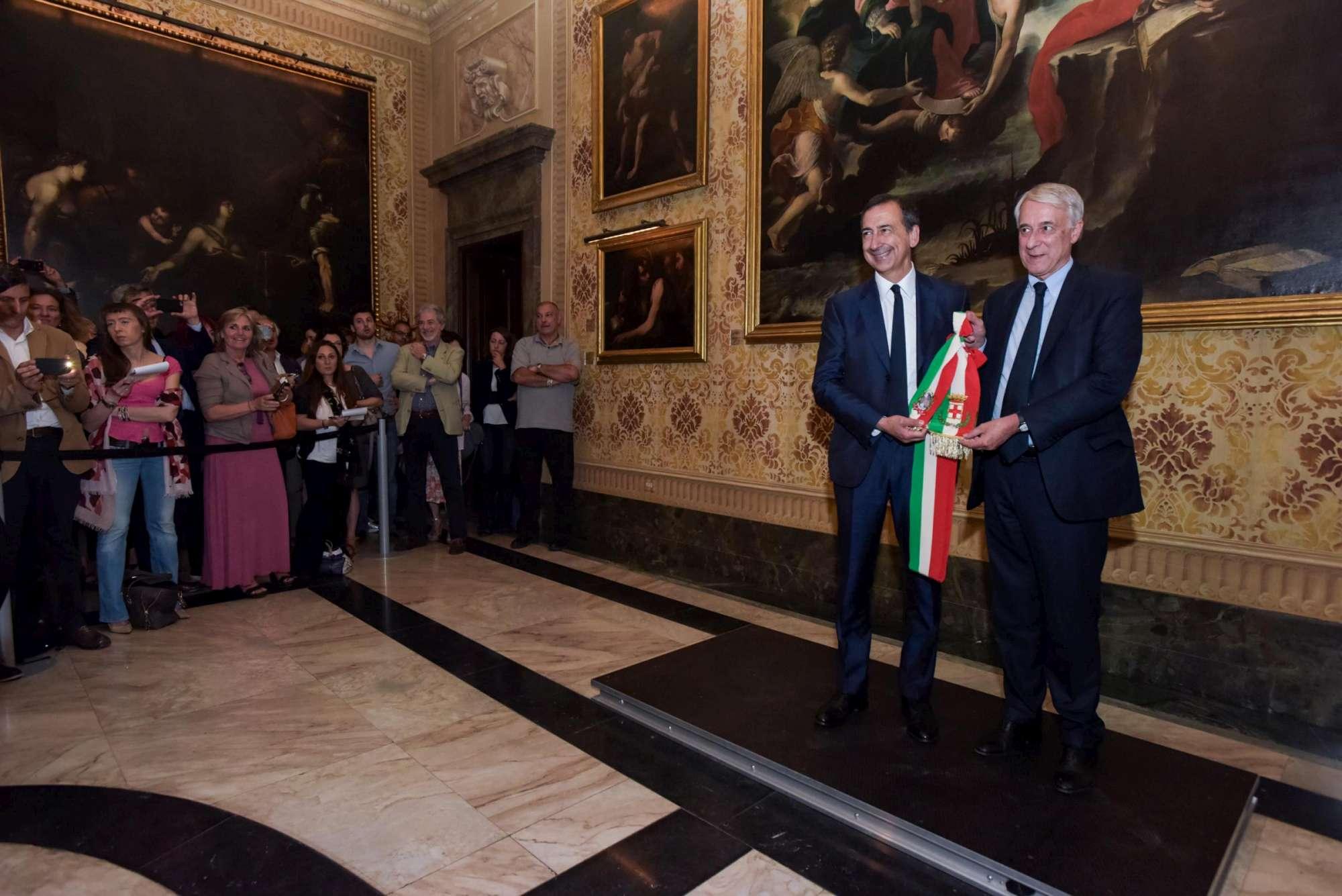 Milano, a Palazzo Marino il passaggio di consegne da Pisapia a Sala