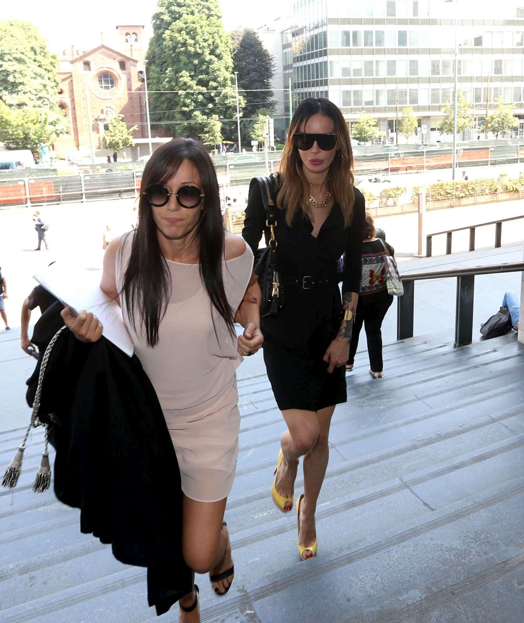 Belen-Nina Moric, faccia a faccia in Tribunale