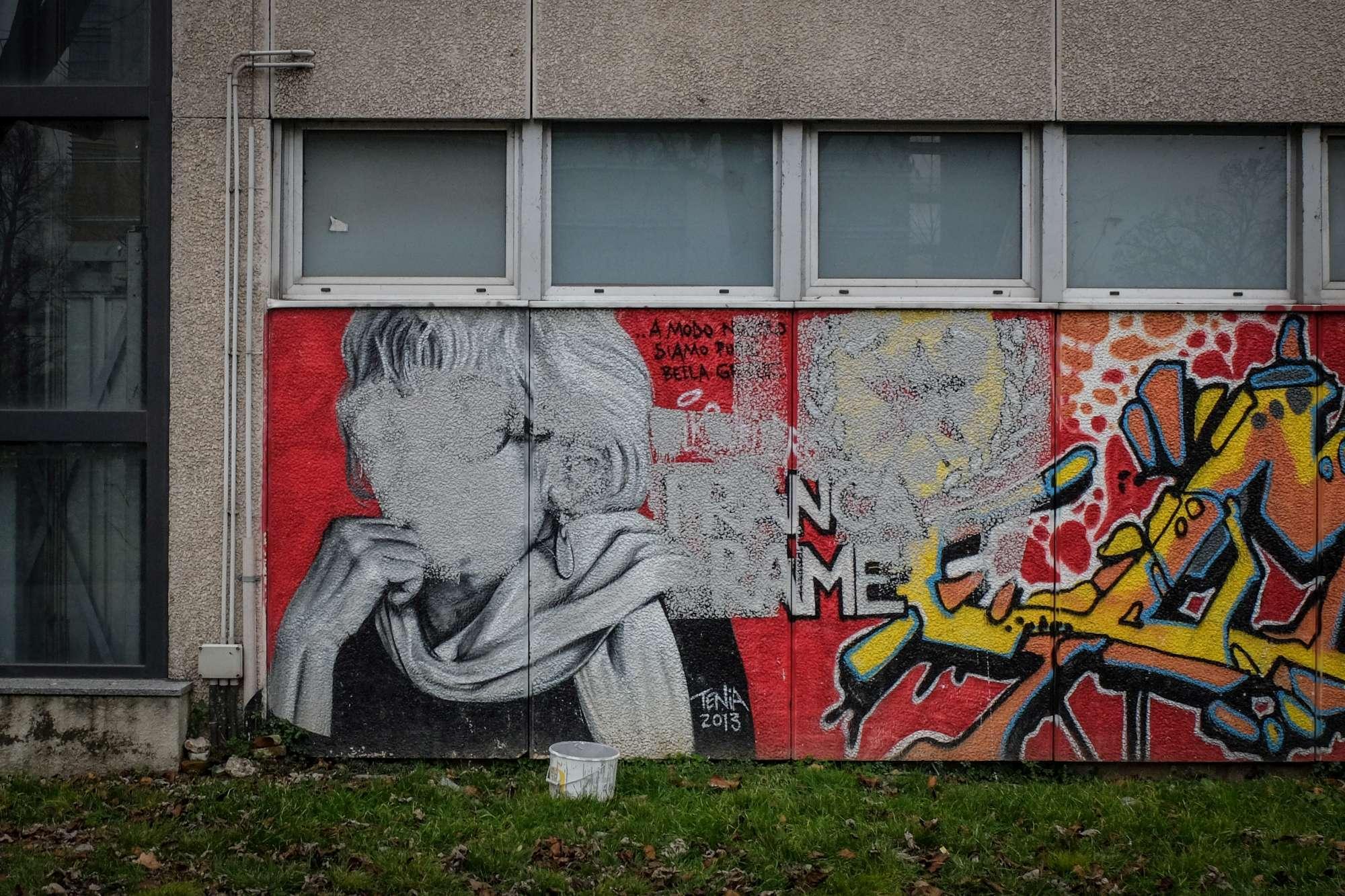 Milano, imbrattato il murale dedicato a Franca Rame