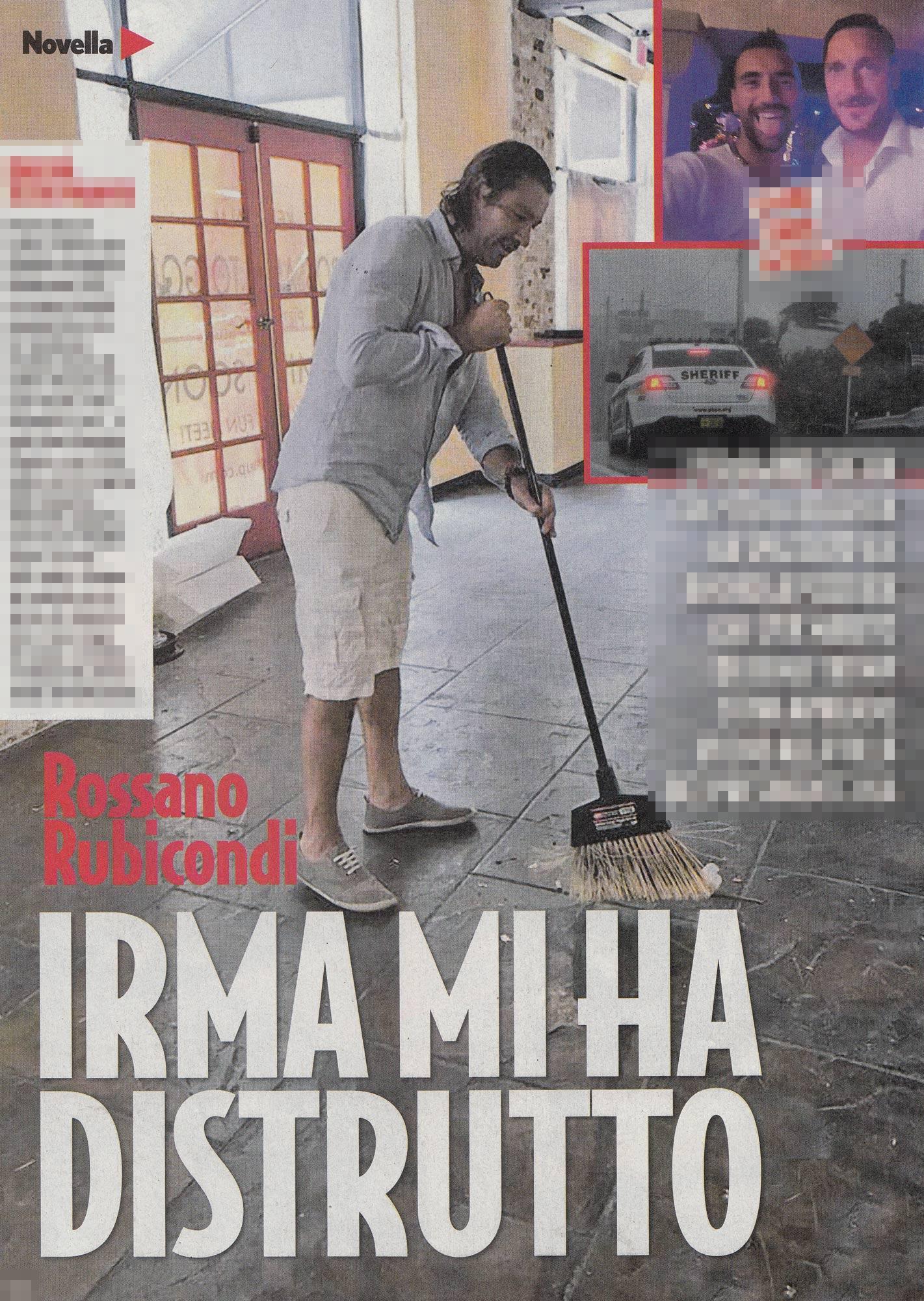 Rossano Rubicondi:  Irma mi ha distrutto