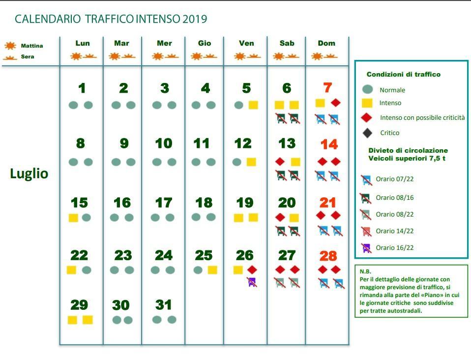 Esodo 2019, il calendario delle partenze