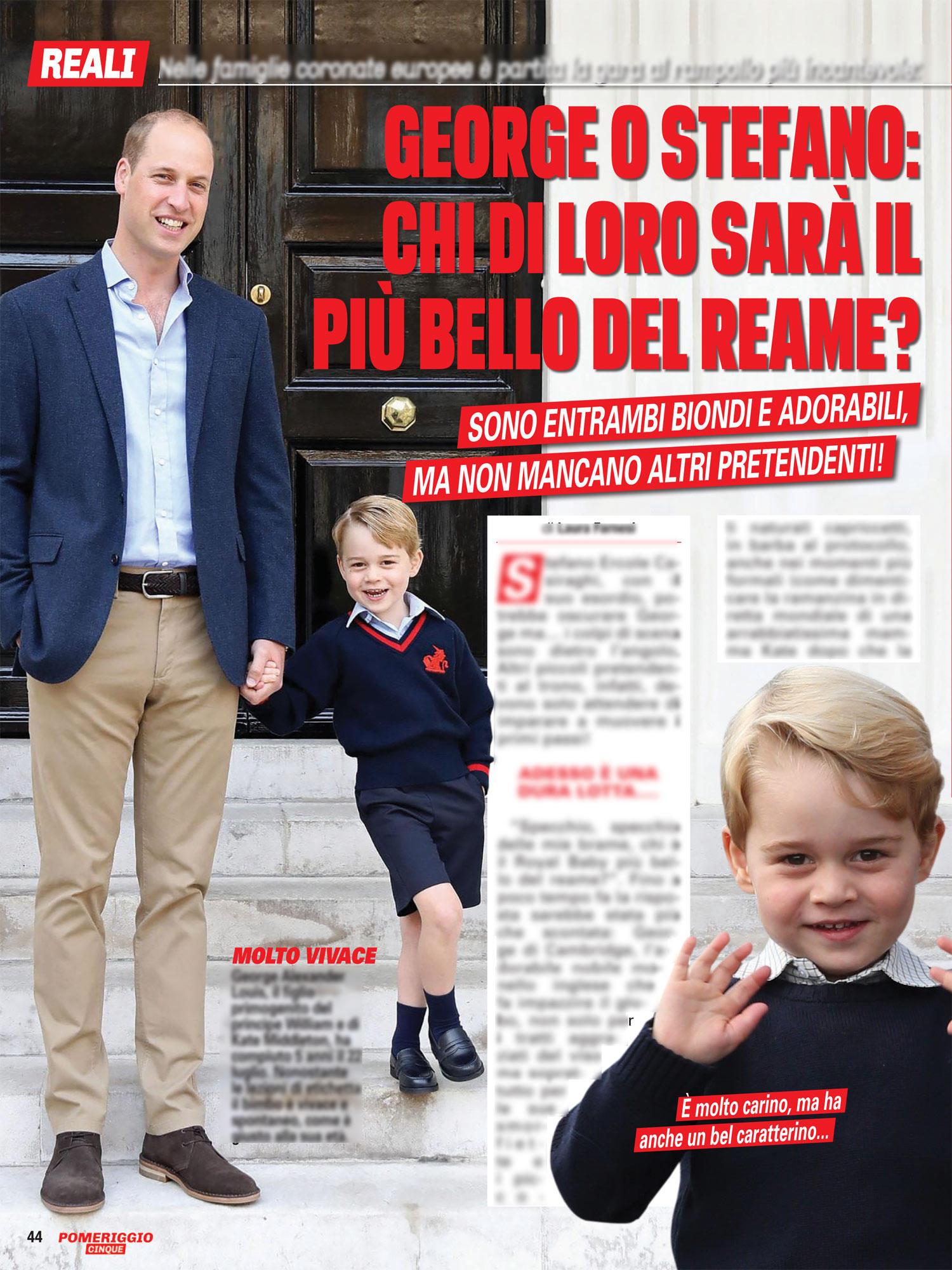 Su  Pomeriggio Cinque Magazine  i baby reali