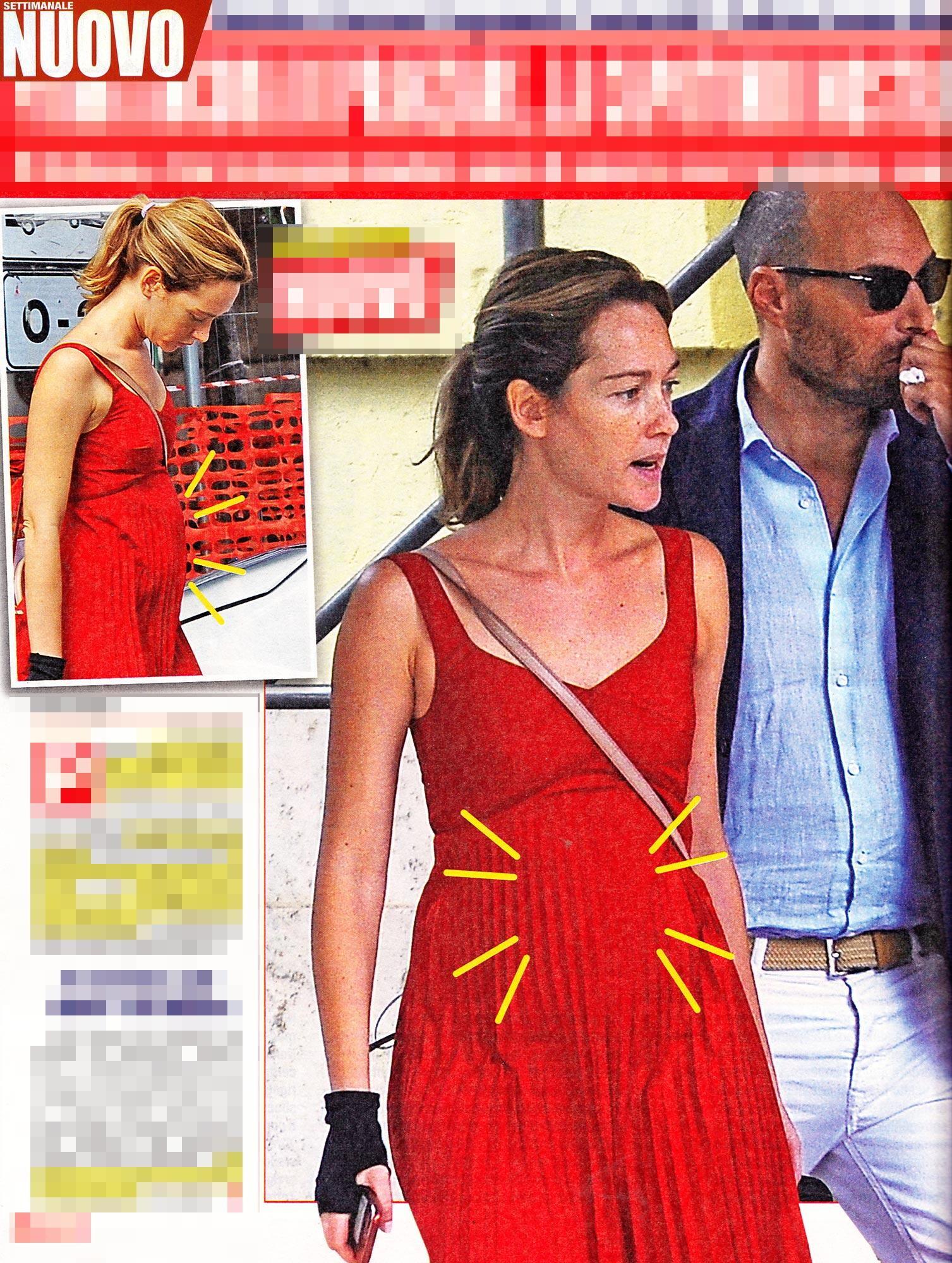 Cristiana Capotondi, sotto l abito rosso spunta un pancino sospetto