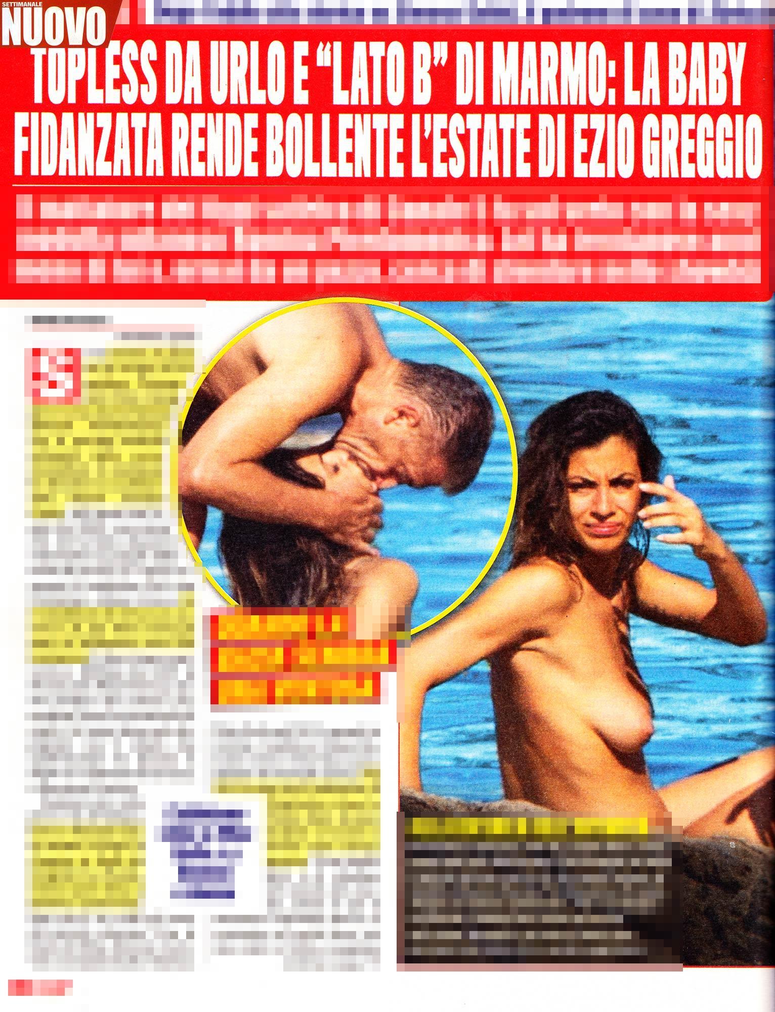 Ezio Greggio e Romina, la sexy baby fidanzata