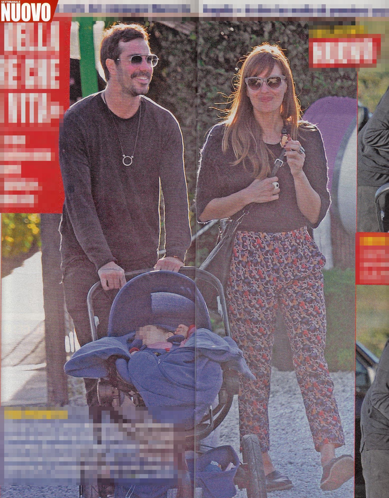 Claudia Pandolfi, gita fuori porta con il compagno e il piccolo Tito