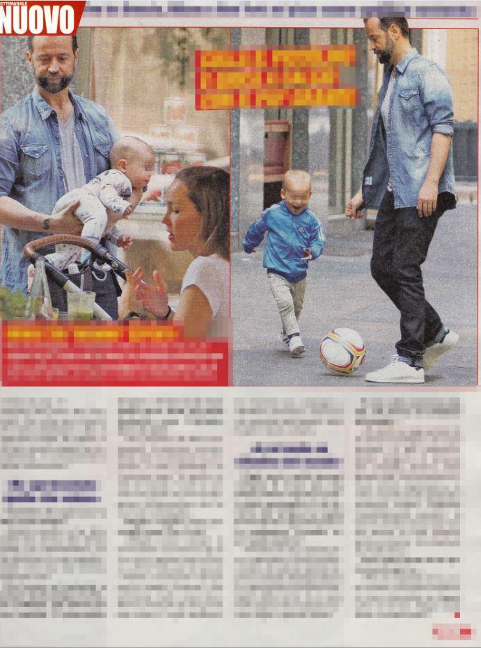 Fabio Volo con la compagna Johanna e i figli Sebastian e Gabriel