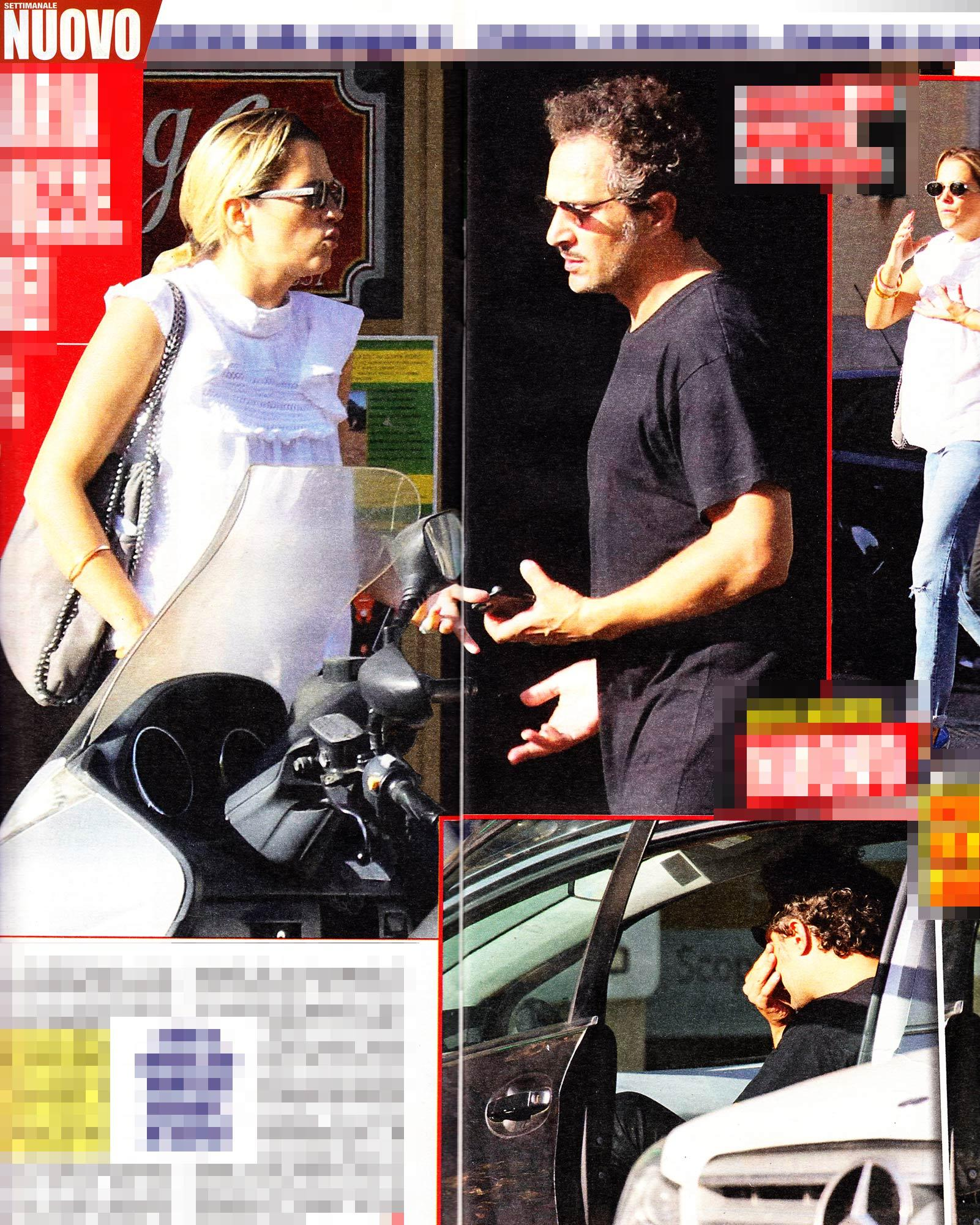 Francesca Barra e Claudio Santamaria, lite in strada con lacrime