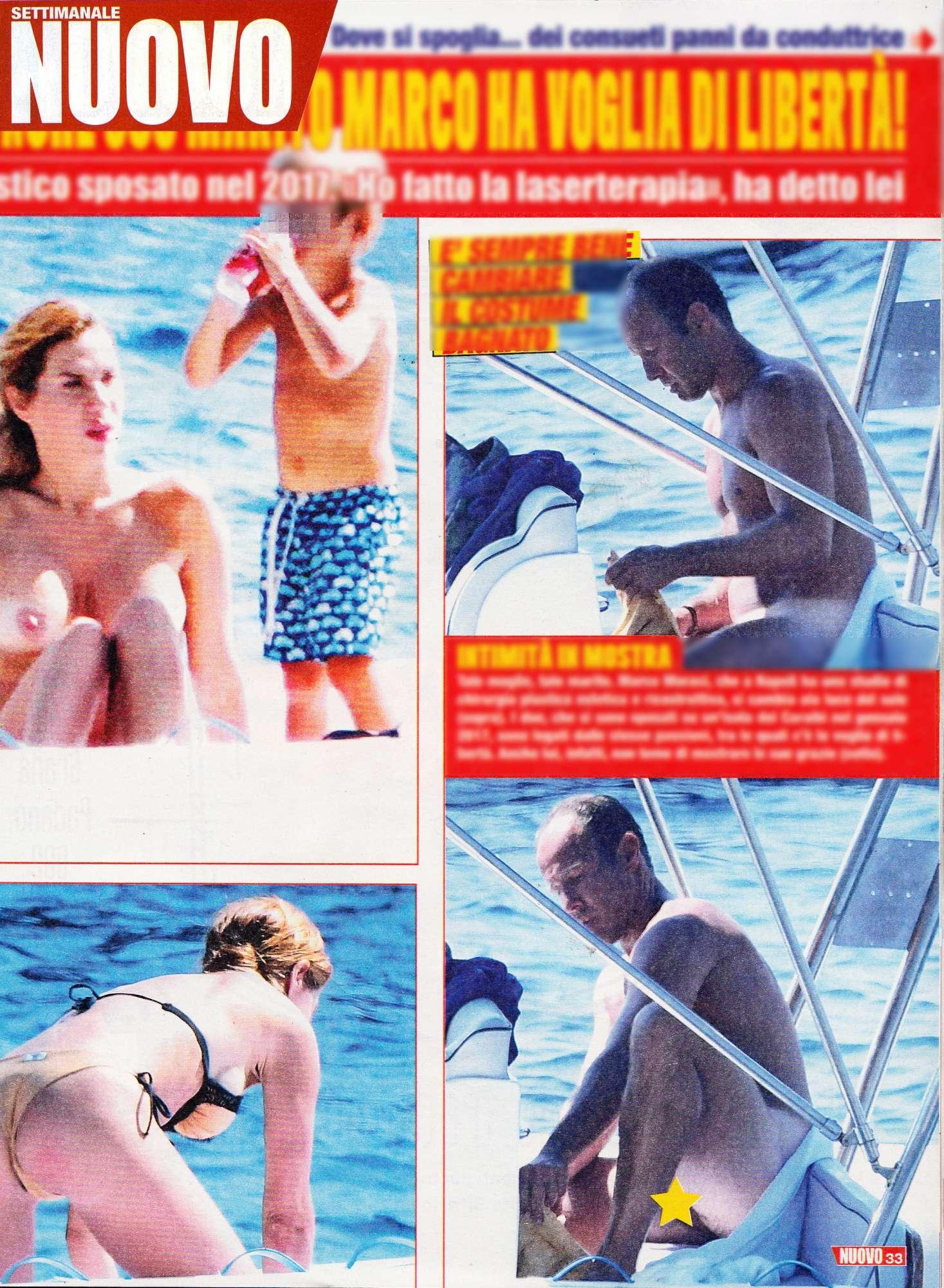 Veronica Maya, vacanze hot: lei in topless, il marito senza slip