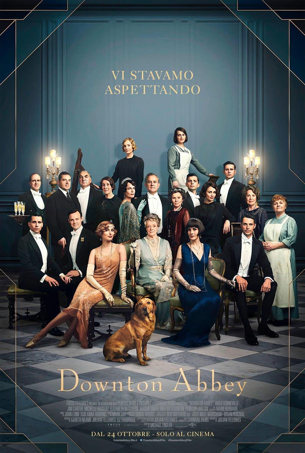 Downton Abbey , tutti i protagonisti riuniti: ecco il poster ufficiale del film
