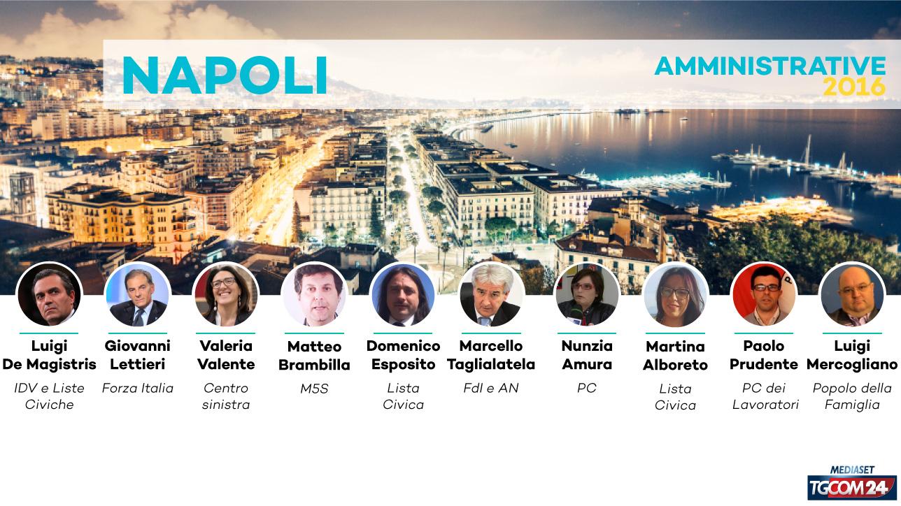 Elezioni 2016, chi sono i 10 candidati sindaco di Napoli