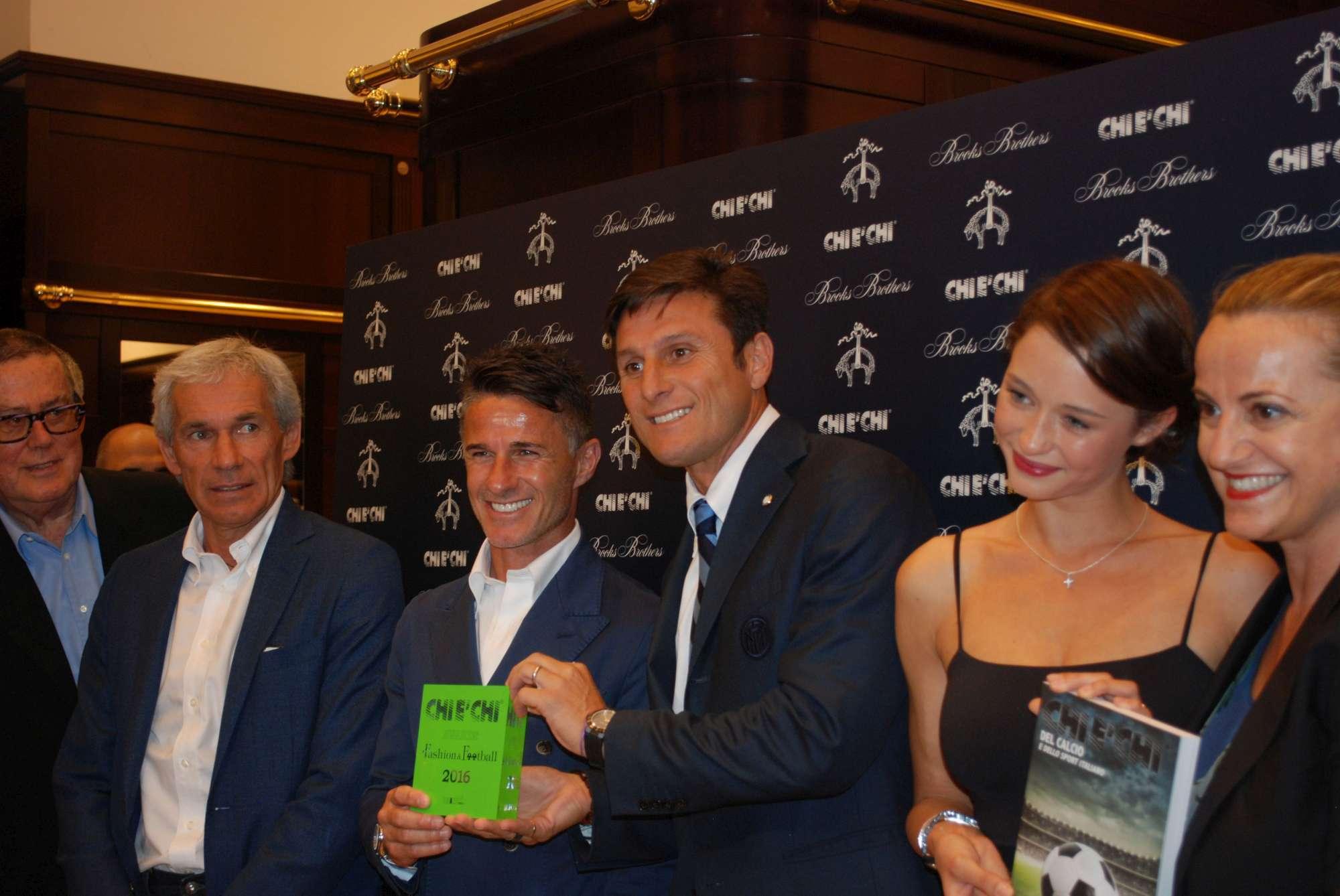 Zanetti, Carbone e Baresi brindano con Stefania Seimur