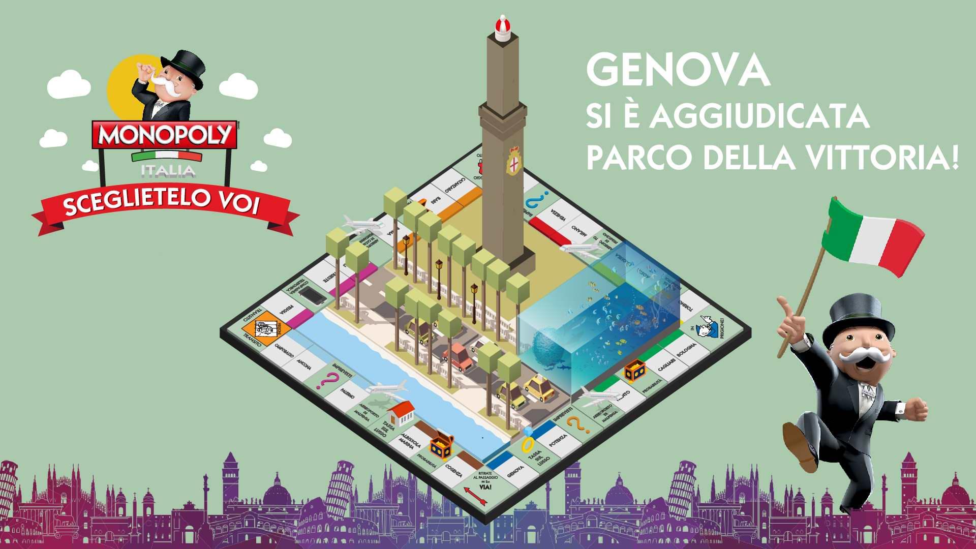 Monopoly Italia: Genova sarà Parco della Vittoria
