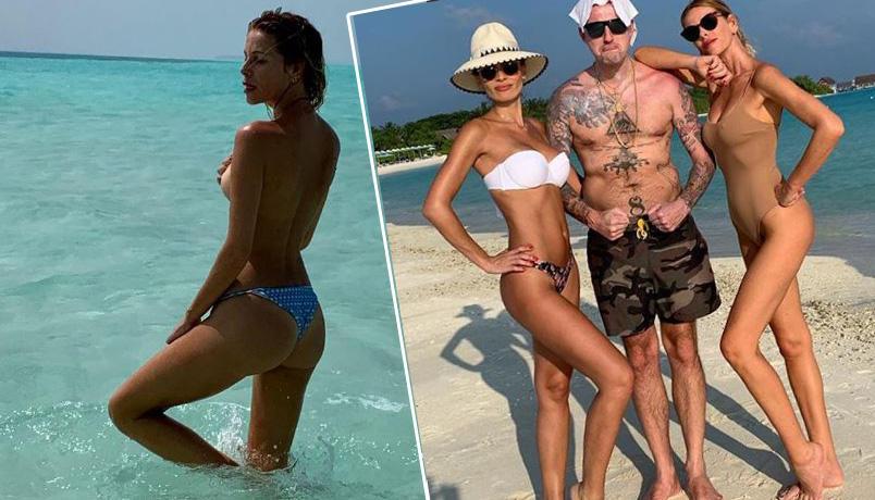 Alle Maldive la Marcuzzi in topless e la Lady si allena