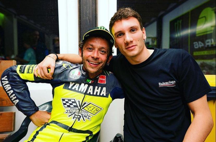 Manuel Bortuzzo in visita al ranch di Valentino Rossi