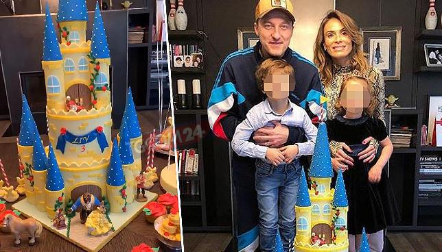 Facchinetti e la moglie in festa per Liv: guarda che fine fa la torta