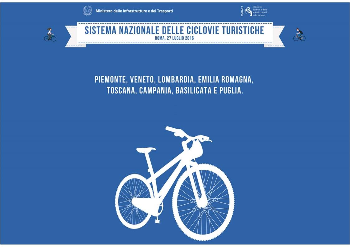 Italia a pedali, nasce il sistema delle ciclovie