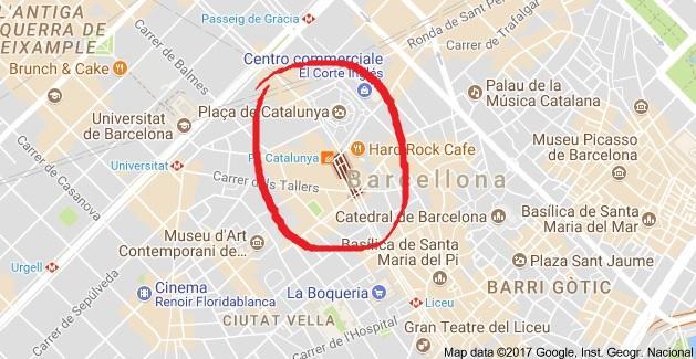 Barcellona, ecco il punto dove il furgone ha investito la folla