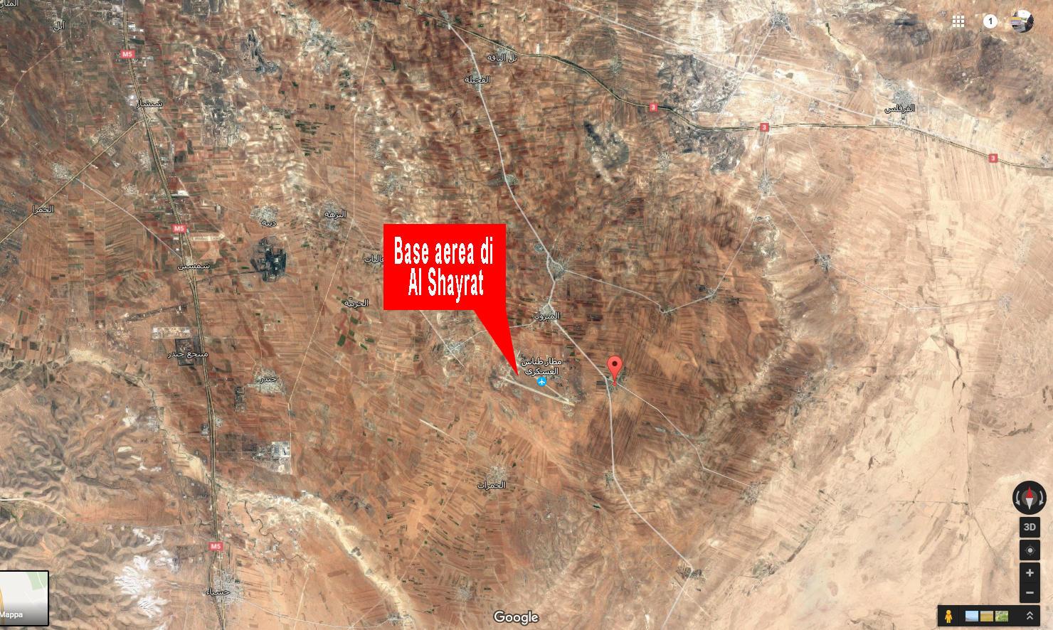 Base aerea di Al Shayrat: la scheda