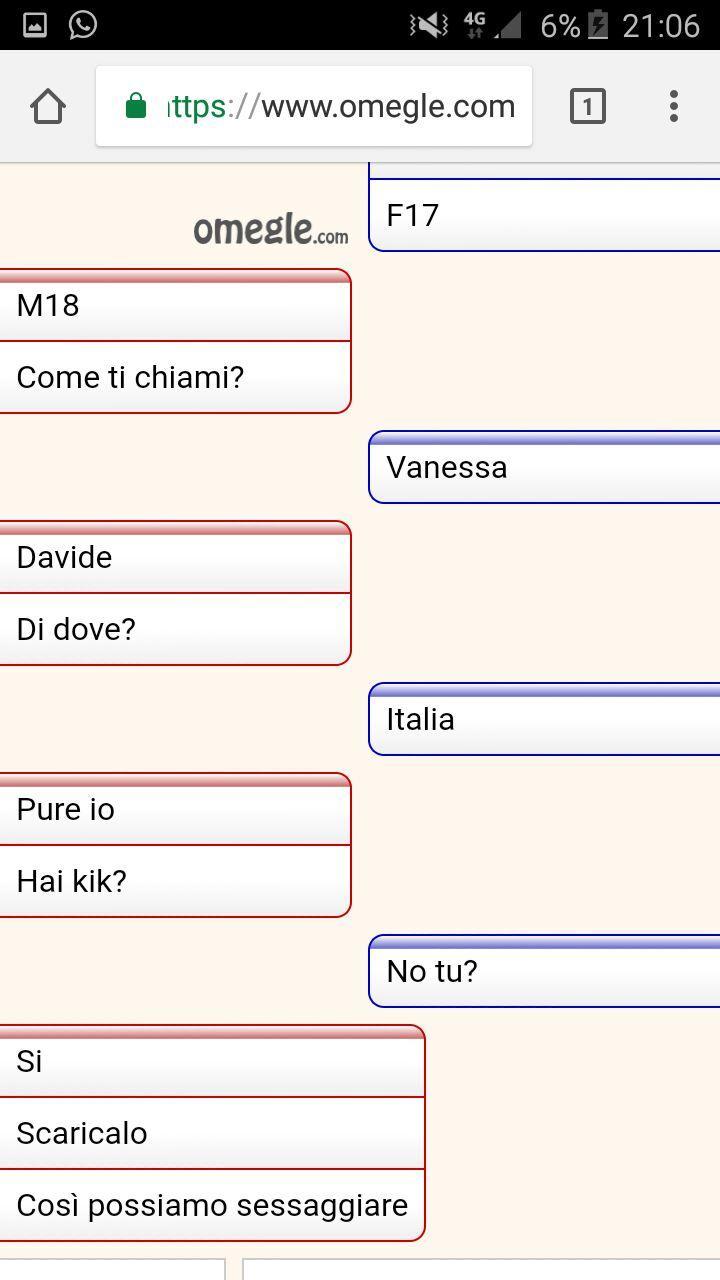 chat per trombare lingua italiana