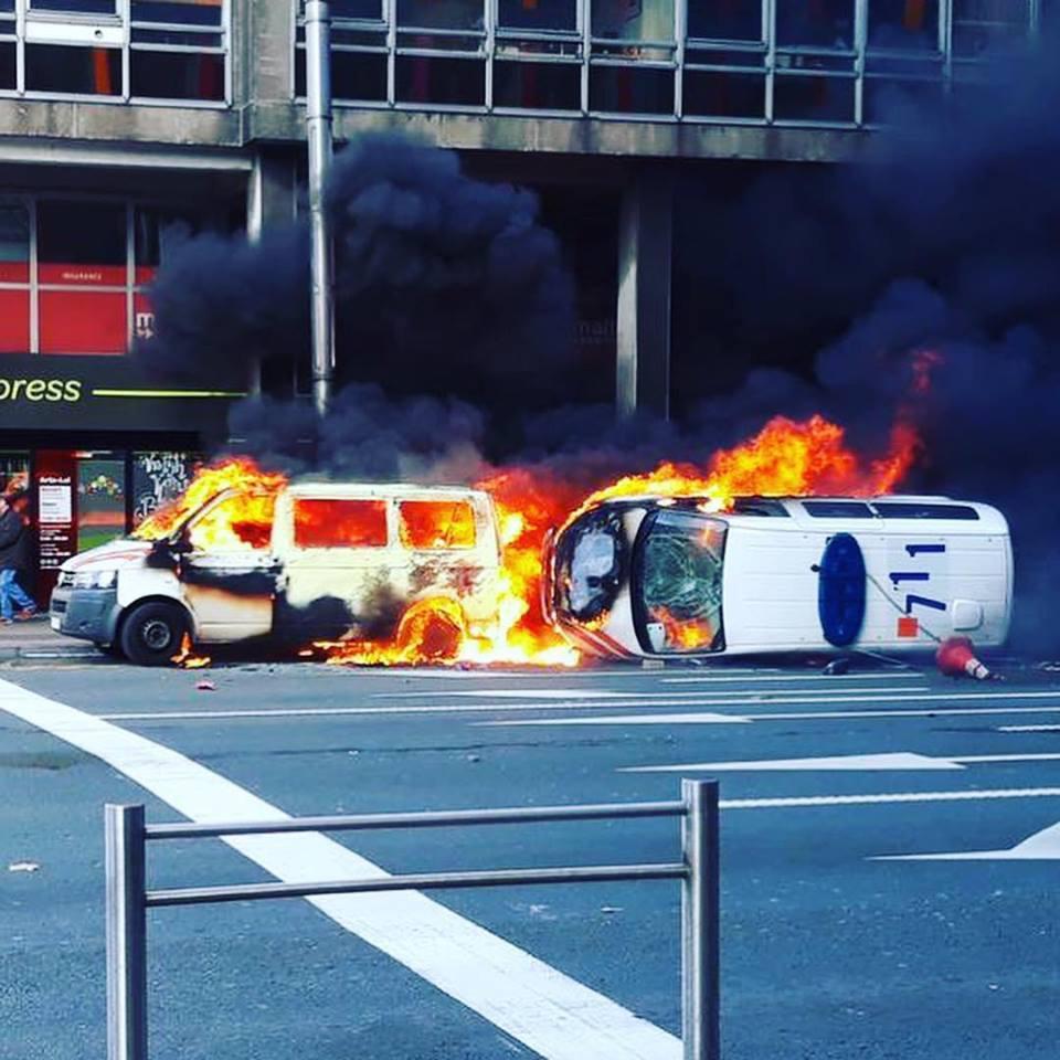 Protesta dei  gilet gialli  a Bruxelles, scontri con la polizia: 60 fermi