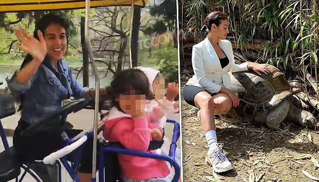 Georgina, turista allo zoo senza Ronaldo