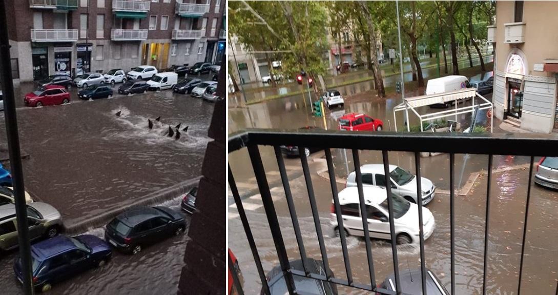 Esonda il Seveso, strade allagate a Milano