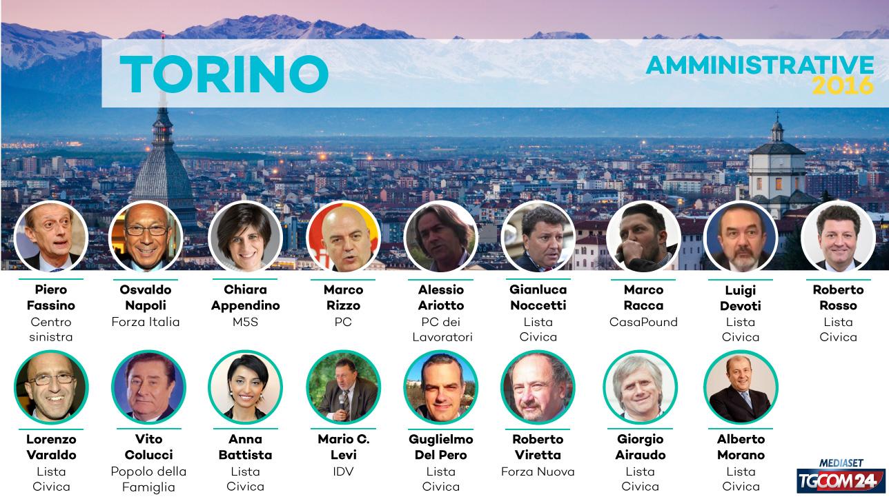 Elezioni 2016, chi sono i 17 candidati sindaco di Torino