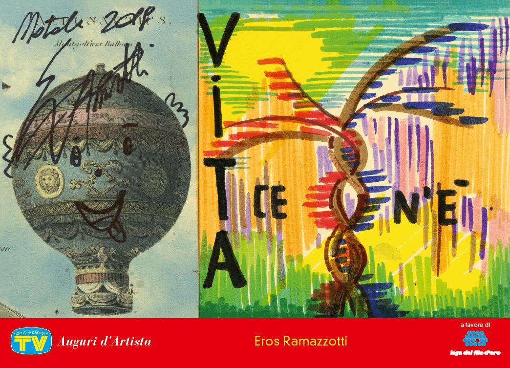 Auguri d artista con tv  Sorrisi e Canzoni , le cartoline firmate dai big